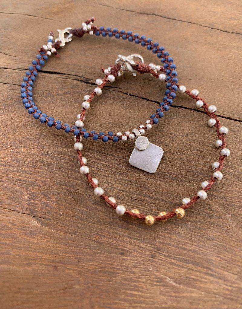 Minetta Design BH Bracelet - Silver & Gold on Sienna