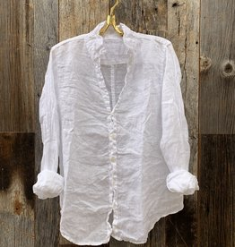 CP Shades CP Shades Sloane No Pocket Linen Top - White