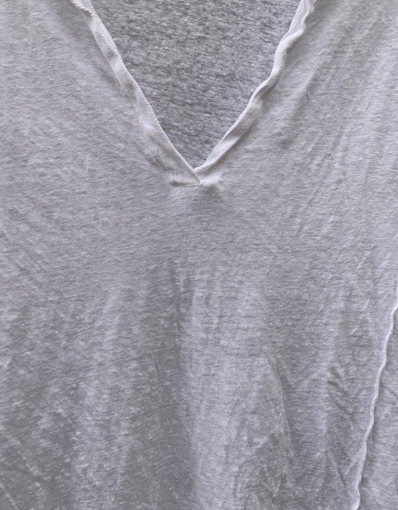 CP Shades CP Shades Fez Linen Top - White