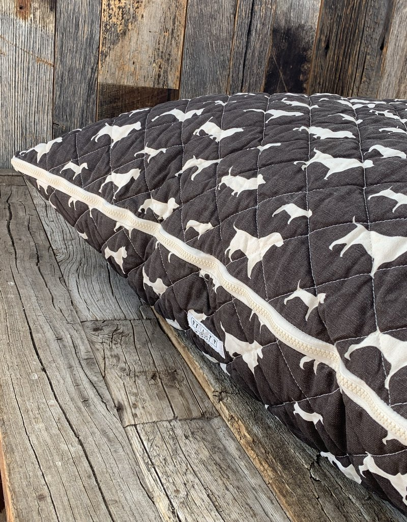 Utility Canvas Utility Canvas Quilted Floor Pillow  - Chocolate Dogs