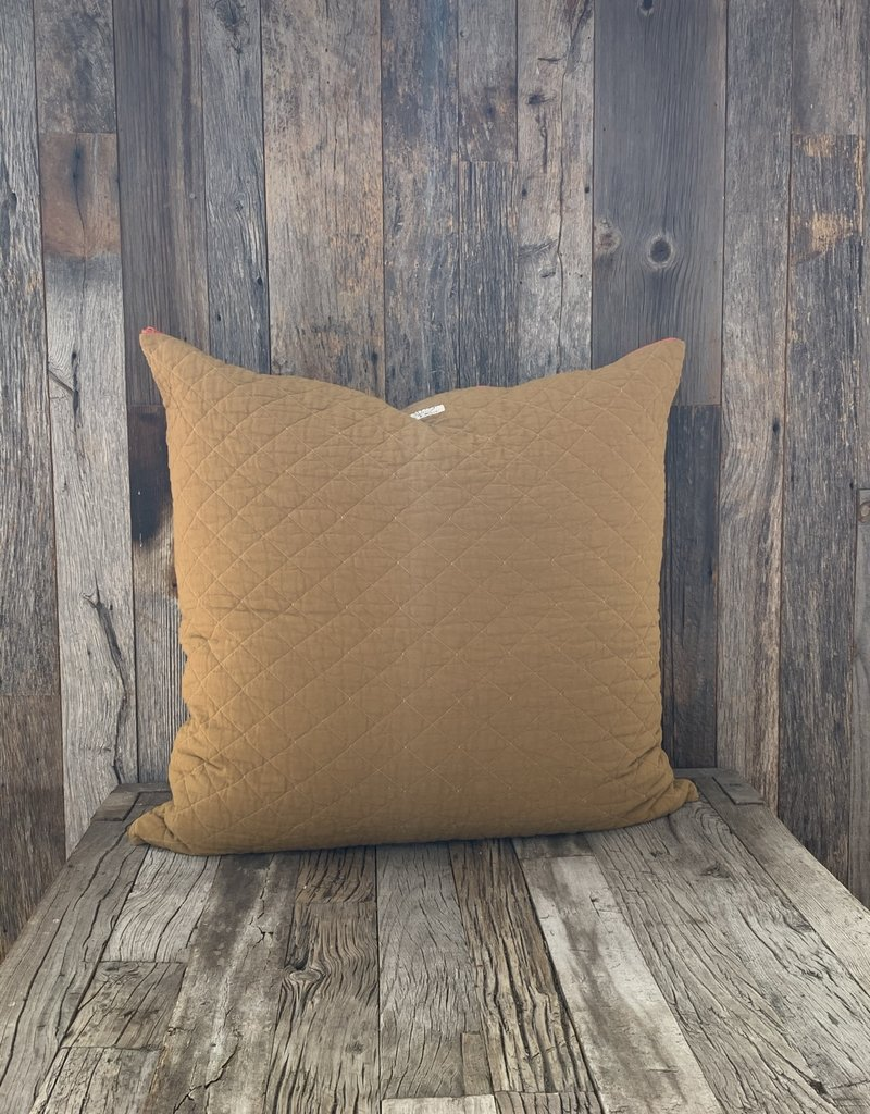 Utility Canvas Utility Canvas Quilted Floor Pillow  - Honey
