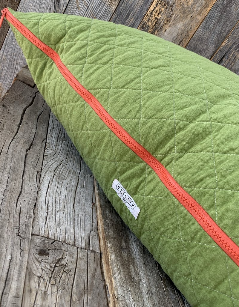 Utility Canvas Utility Canvas Quilted Floor Pillow  - Leaf Green