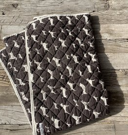 Utility Canvas Utility Canvas Throw Blanket - Chocolate Dogs
