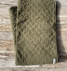 Utility Canvas Utility Canvas Throw Blanket - Olive