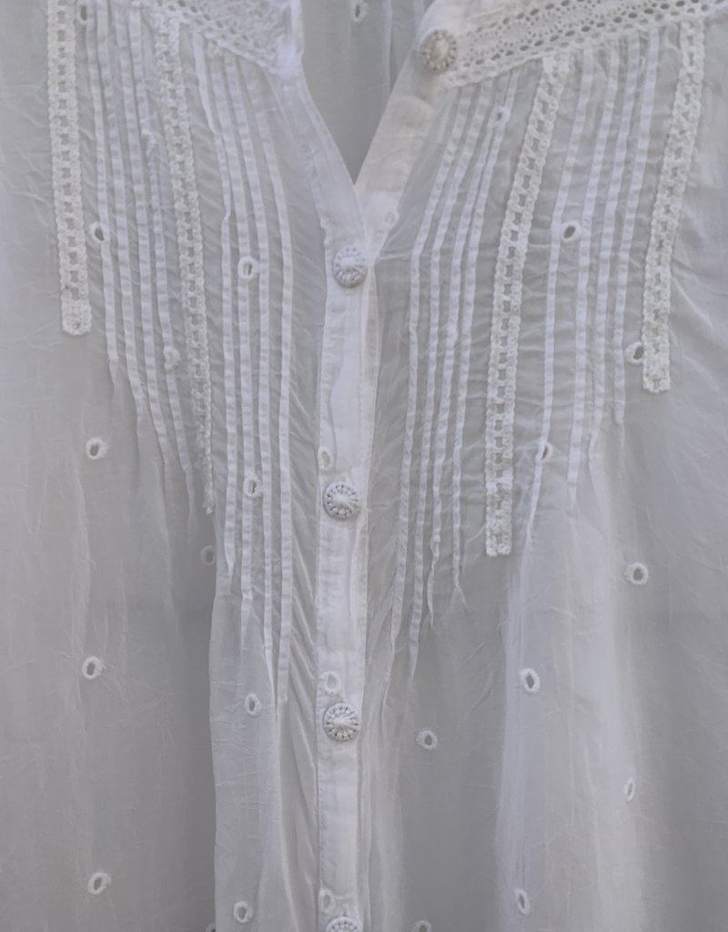 Johnny Was Johnny Was Helia Blouse - White