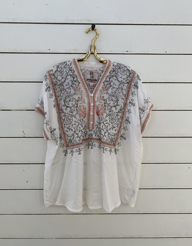 Johnny Was Johnny Was Adhuna Blouse - Natural