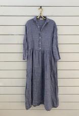 CP Shades CP Shades Justine Linen Dress - Blue Chambray