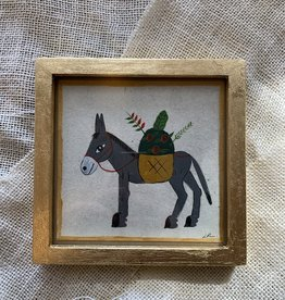 River Song Jewelry River Song Jewelry Luis Romero Donkey with Flowers Painting