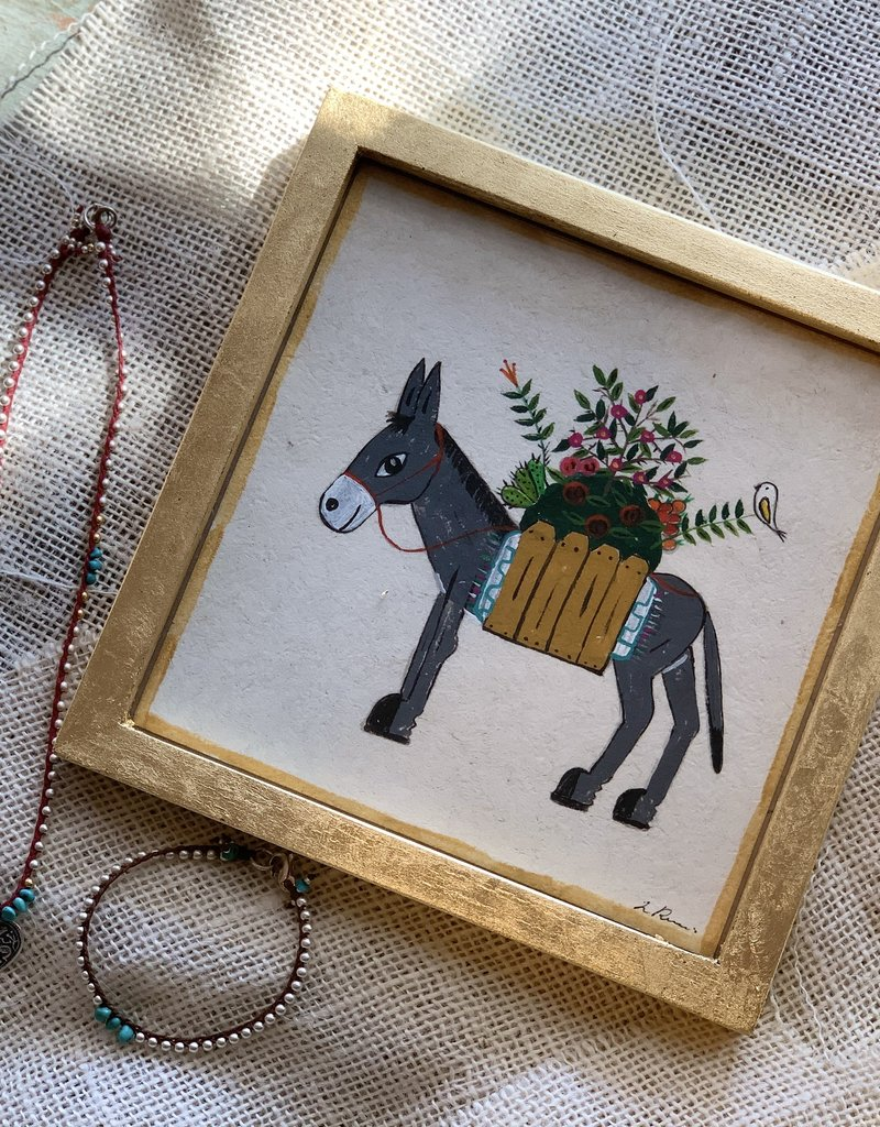 River Song Jewelry River Song Jewelry Luis Romero Donkey with Blanket Painting