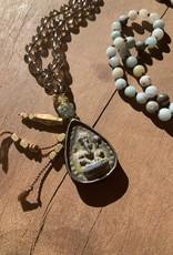 Leap Jewelry Mala - Smoky Quartz + Amazonite 001
