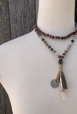 Leap Jewelry Mala - Porcelain Jasper + Rosewood 001