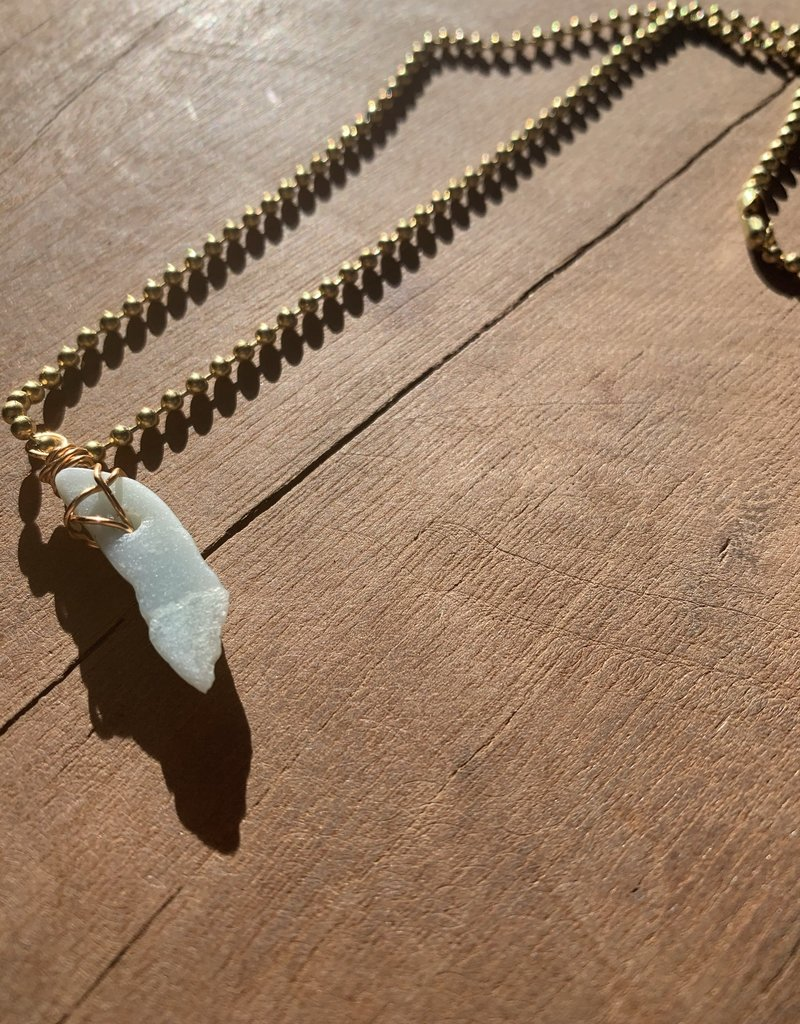 Leap Jewelry Necklace - Wrapped Amazonite 005