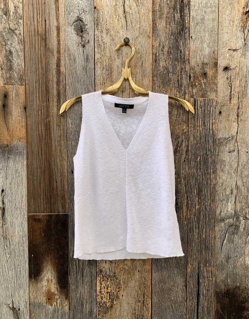 SWTR SWTR Sleeveless V-Neck - White