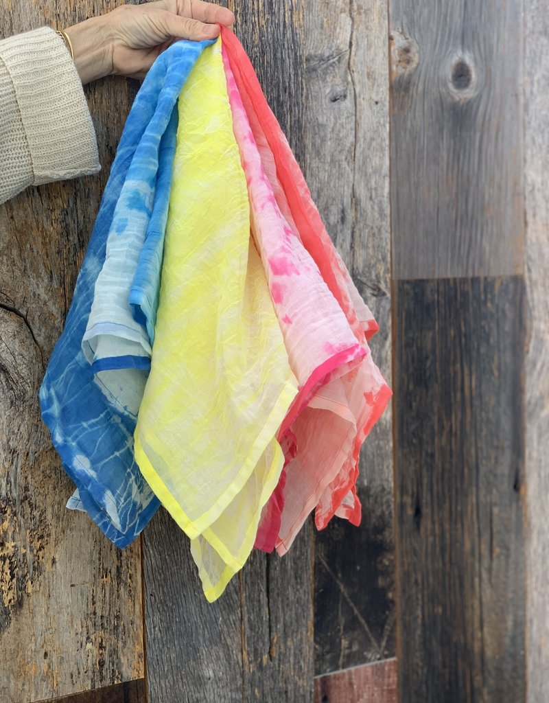 Scarf Shop Fine Organic Cotton Neck Scarf - Wrap Dye - Lexi