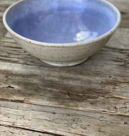 Fanta Watson Speckled Clay Bowl - Cream & Blue