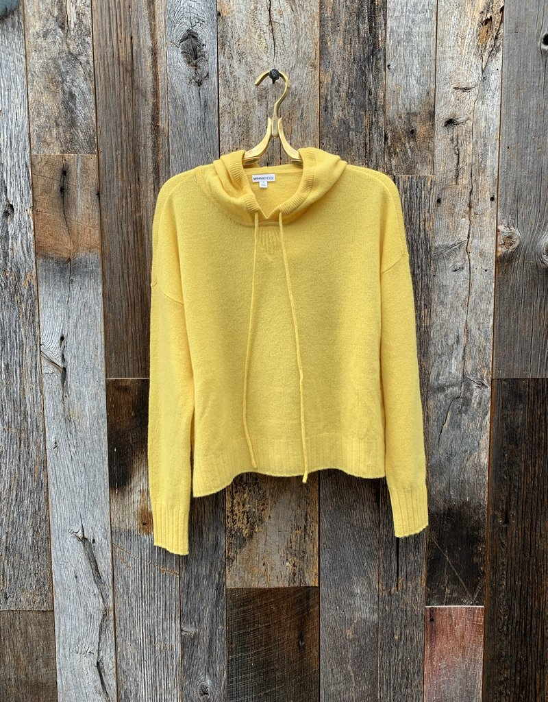 Minnie Rose 100% Cashmere Oversized Hoodie - Happy Face