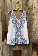 Johnny Was Johnny Was Harriet Linen Tank Top - White