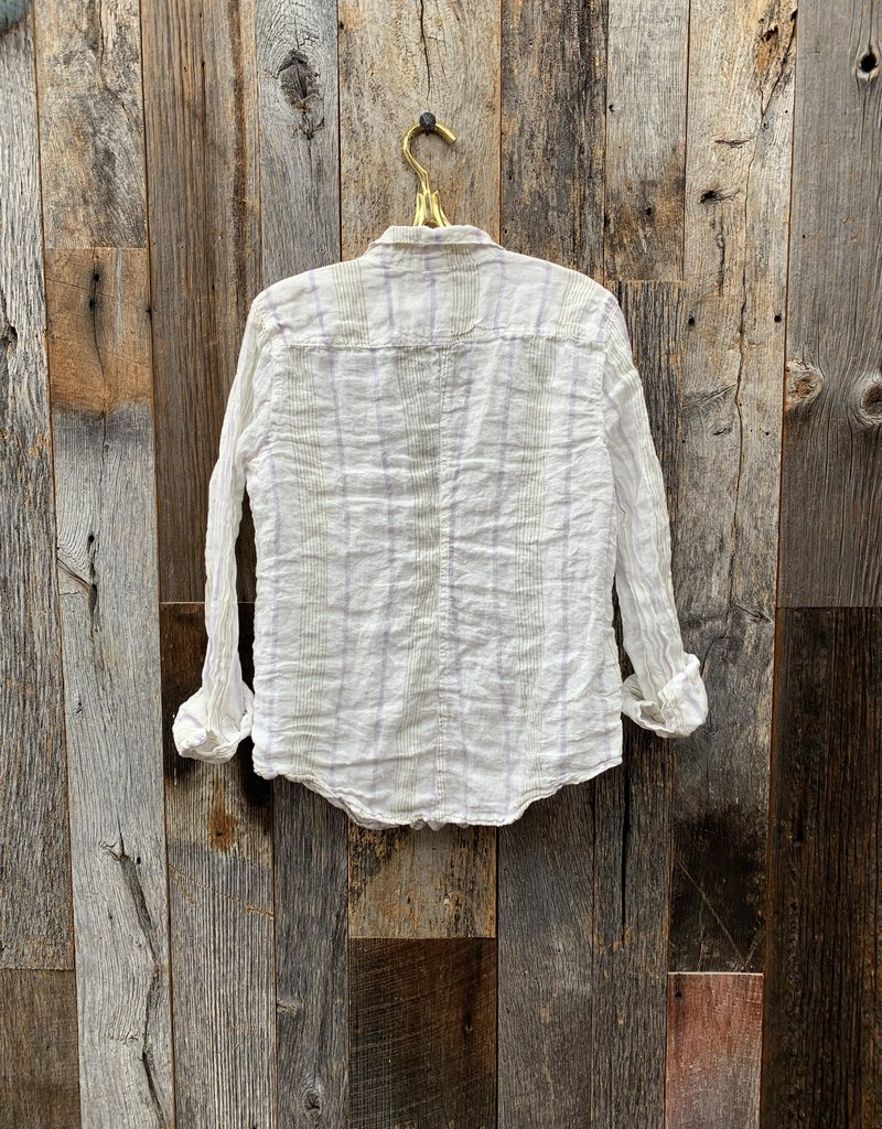 CP Shades CP Shades Sloane Linen Top - Lavender & Olive Stripe