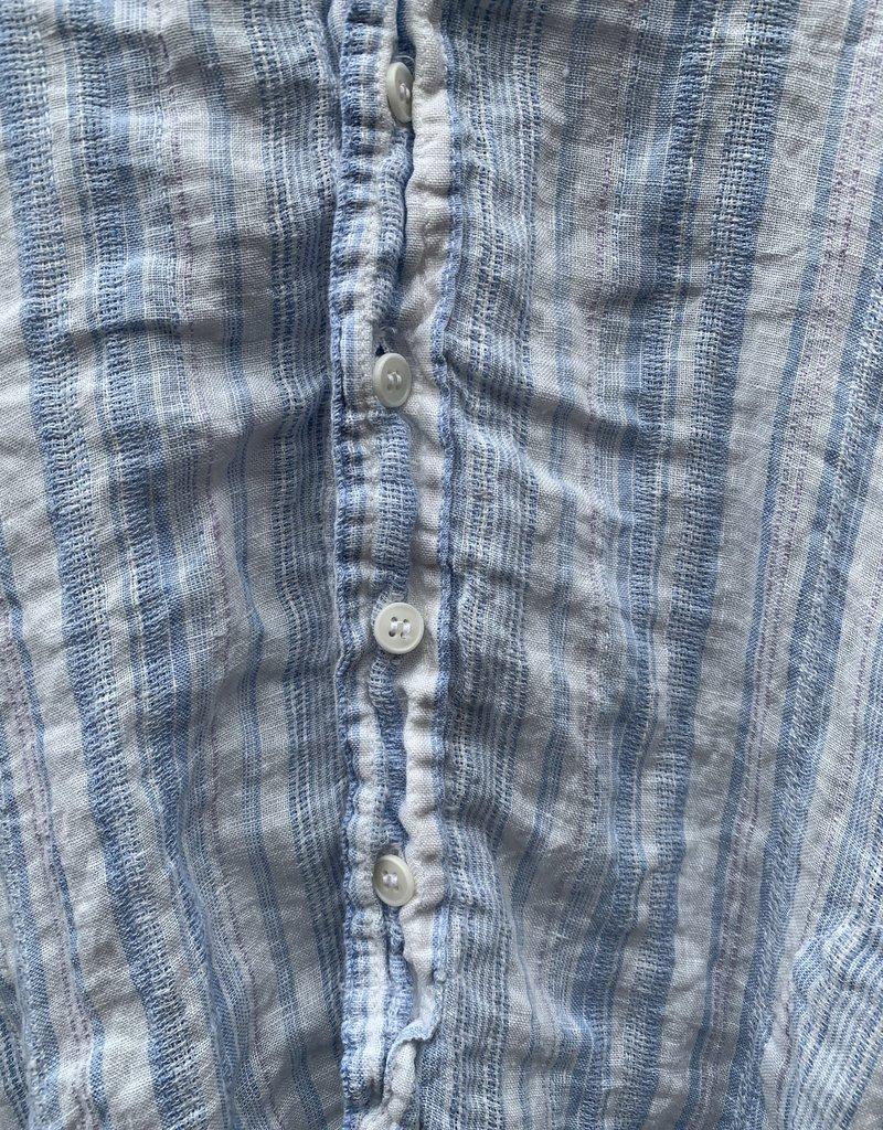 CP Shades CP Shades Linen Cecelia Tunic - Blue & White Stripe