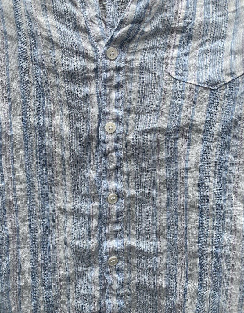 CP Shades CP Shades Sloane Linen Top - Blue & Lilac Stripe