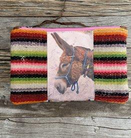 Totem Salvaged Donkey w/ Blue Halter Large Clutch