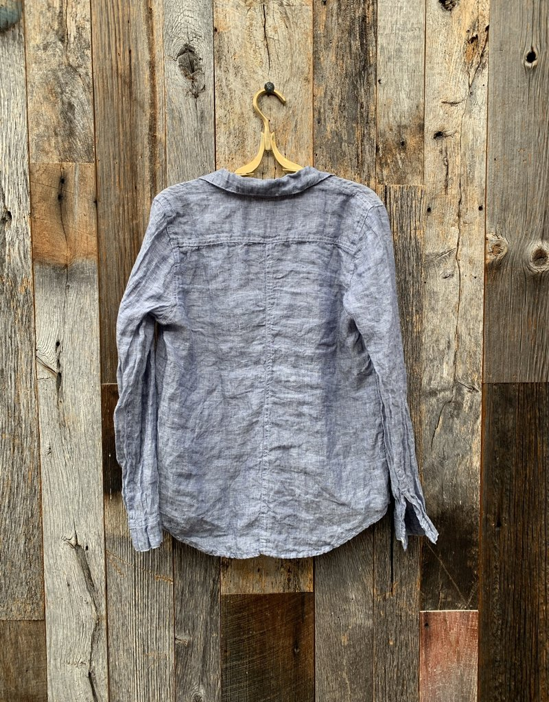 CP Shades CP Shades Rooney Linen Top - Blue Chambray