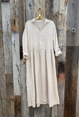 CP Shades CP Shades Justine Linen Dress - Cashew