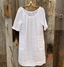 CP Shades CP Shades Neeko Linen Dress - White