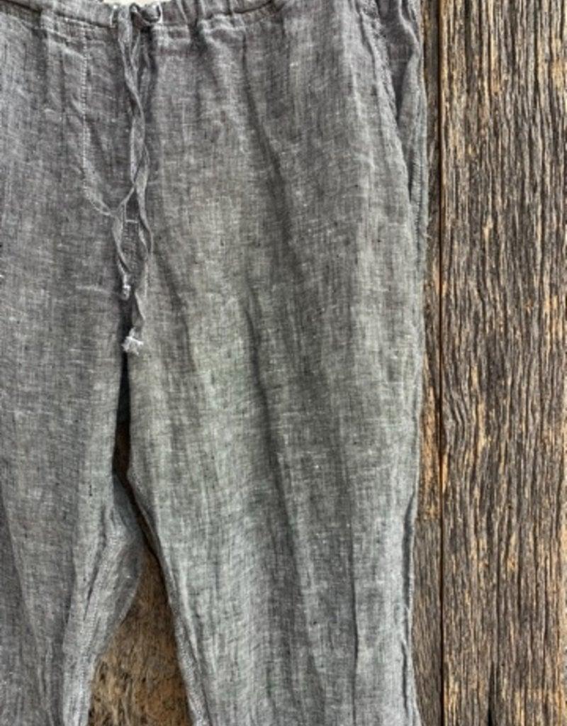 CP Shades CP Shades Hampton Linen Pants - Black Chambray