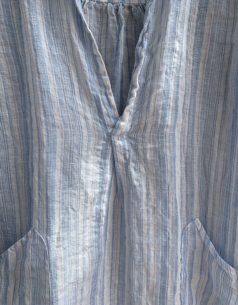 CP Shades CP Shades Teton Linen Top - Light Blue Stripe