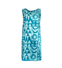 Makawalu, Ocean (silk) - Women's Sleeveless Shift Shirt