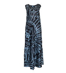 Mai Ka Ho'oku'i, Star Black (silk) - Women's V-Neck Long Dress