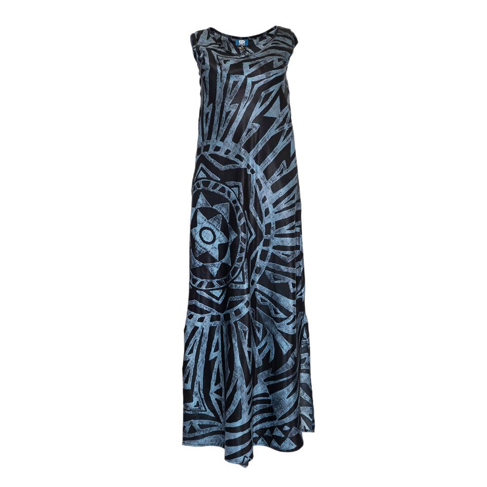 Mai Ka Ho'oku'i, Star Black (silk) - Women's V-Neck Long Dress