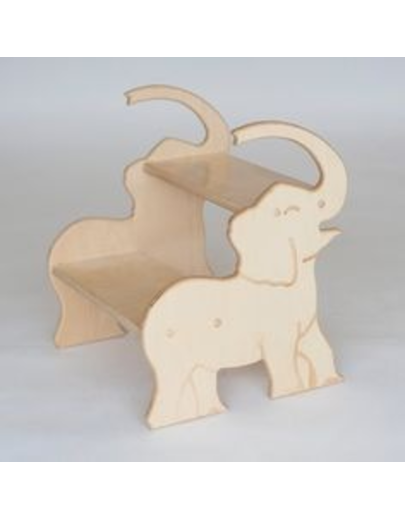Pop-Pops's Elephant Step Stool, <br /> Birch - made in the USA