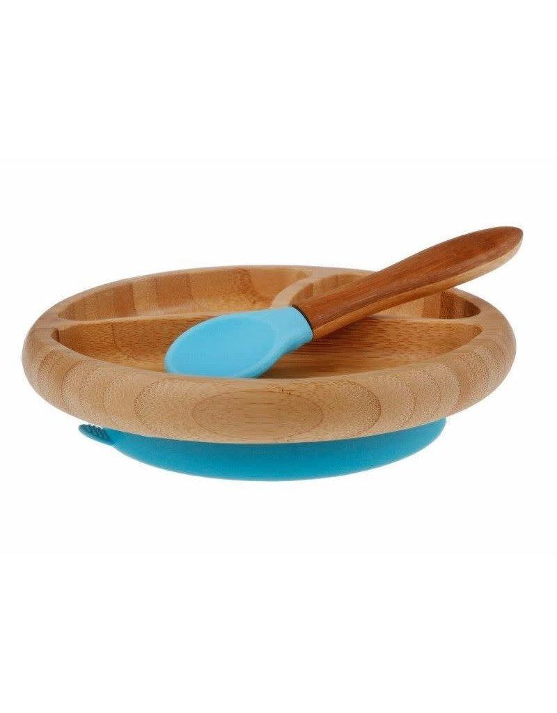 Avanchy Avanchy Suction Bamboo Plate + Spoon
