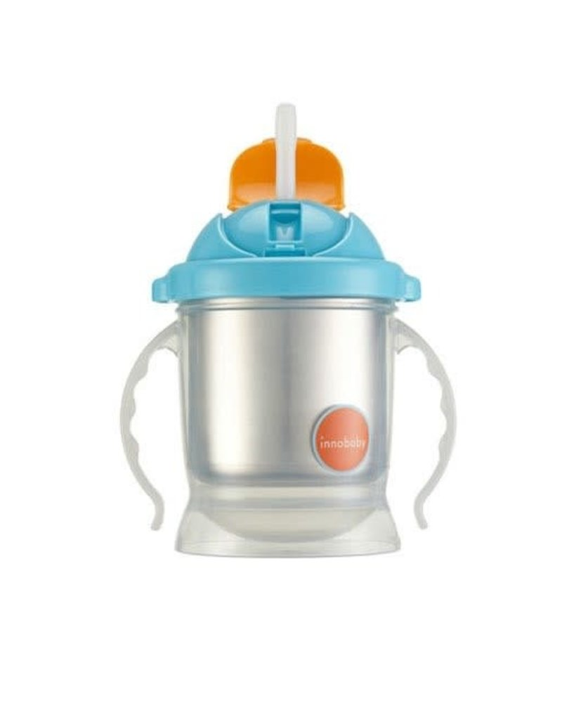Innobaby Innobaby Sippin Smart EZ flow straw sippy, stainless steel cup