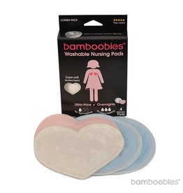 Bamboobies Bamboobies - 2 Pair, Overnight/Ultra Thin, Combo Pack