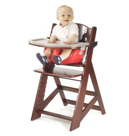 Keekaroo Keekaroo - Mahogany Height Right High Chair + Cherry Infant Insert + Tray