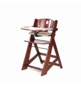 Keekaroo Keekaroo - Mahogany Height Right High Chair +Tray/Cover (soft fabric seat cover)
