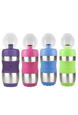 Kid Basix- Sports Bottle, 12 oz. Assorted Colors, Green, Blue, Pink