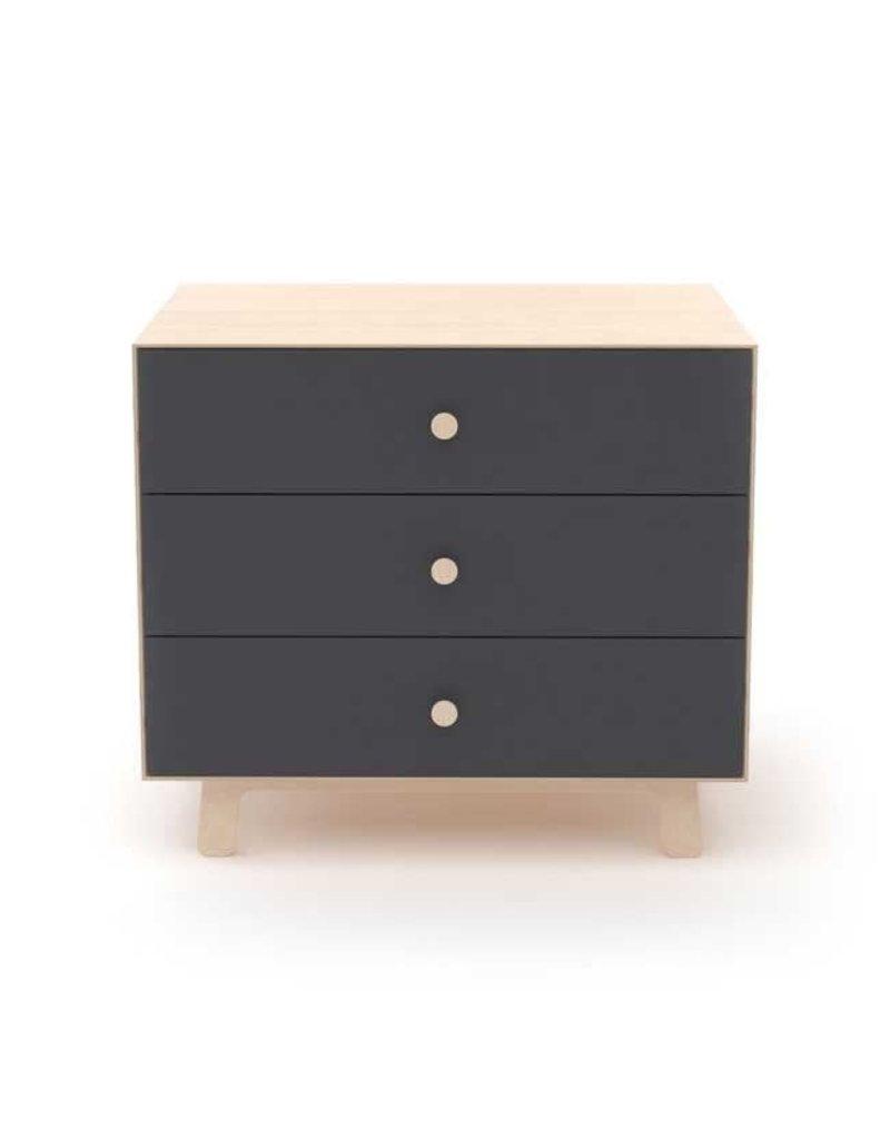 Oeuf Oeuf - Merlin 3 Drawer Dresser - Sparrow-Birch/Slate
