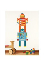 Petitcollage - Fabric Wall Decals, Robot Growth Chart