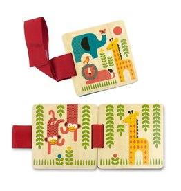 Petit Collage Petit Collage-Safari Wood Stroller Book