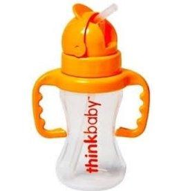 Thinkbaby Thinkbaby - Thinkster - Straw Bottle 9oz - Orange