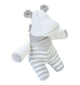 Under the Nile Under the Nile, Hippo doll, Grey Stripe, Organic Cotton GOTS