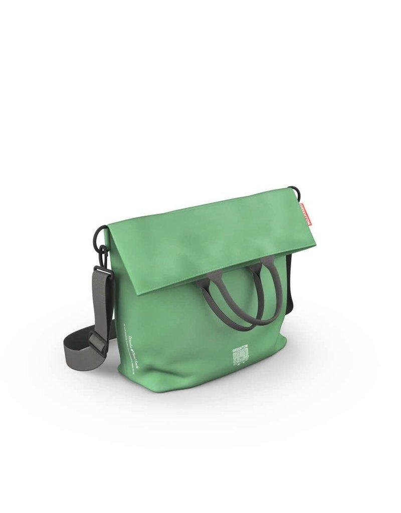 Greentom Greentom Diaper Bag Made From Recycled Bottles., Mint, 41x25x15