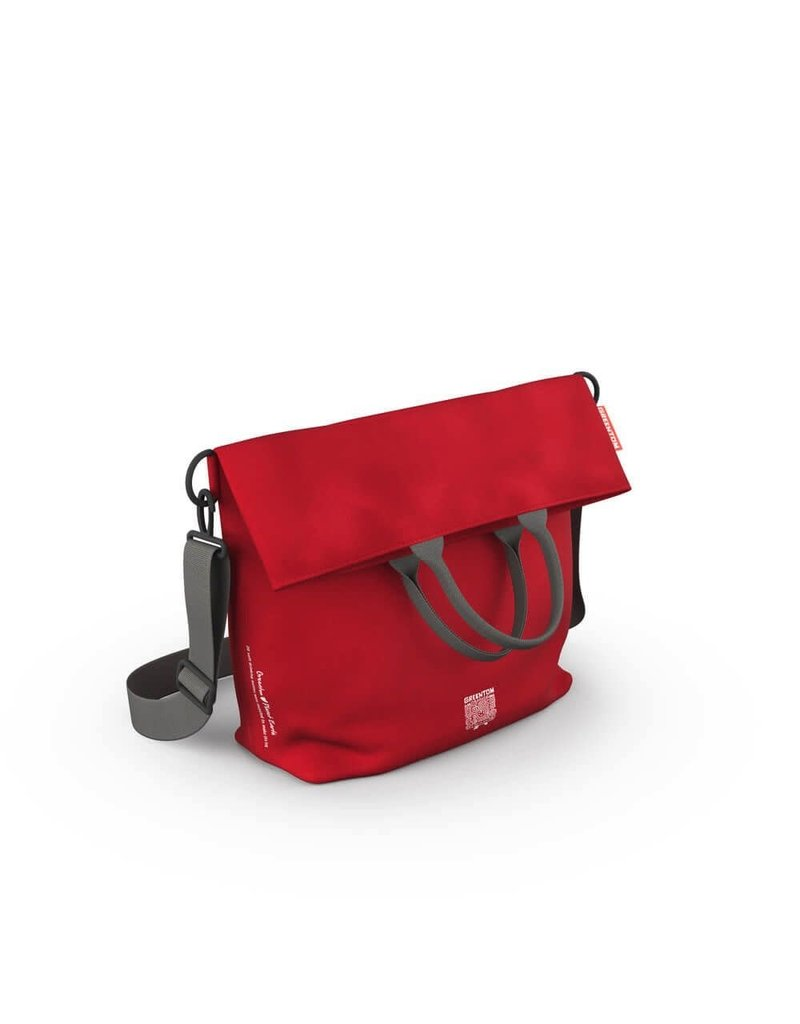 Greentom Greentom Diaper Bag Made From Recycled Bottles., Red,