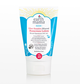 Earth Mama Organics Earth Mama Organics, Kids Uber-Sensitive Mineral Sunscreen SPF 40  3 oz