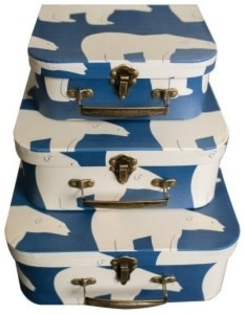 Zebi Baby Nesting Suitcase Set - Navy Polar Bear