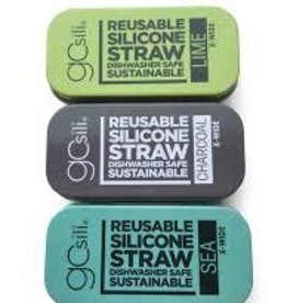 GoSili GoSili - Extra Wide Straw Tin - Assorted Colors